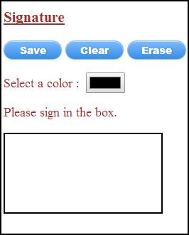 Signature Canvas Element